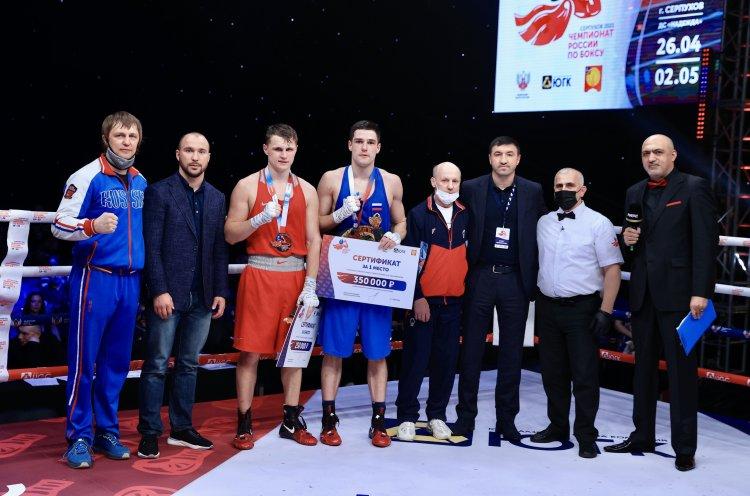 Боксер КСШОР Никита Чирвон – серебряный призер чемпионата России по боксу